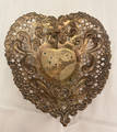 1930s ANTIQUE GORHAM STERLING SILVER HEART SHAPED PIERCED DISH