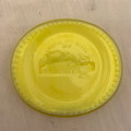 RARE! 1988 BOYD'S CRYSTAL ART SLAG GLASS PIN DISH MINIATURE YELLOW