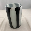 VINTAGE ZEBRA STRIPED VASE