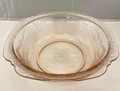1970s INDIANA GLASS PINK DEPRESSION RECOLLECTIONS (1930s MADRID) LARGE GLASS SERVING BOWL