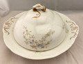 RARE! LATE 1800S-EARLY 1900s O.P. COMPANY SYRACUSE ROUND THREE PIECE BUTTER DISH SET INCLUDES STRAINER #1346