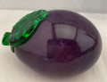 PURPLE HANDBLOWN GLASS EGGPLANT