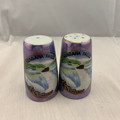 "VINTAGE PORCELAIN ""NIAGARA FALLS CANADA"" SALT AND PEPPER LUSTERWARE SOUVENIR SHAKERS"