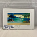 "2003 JAVIER SOUVENIR TILE PAINTING OF ""CANCUN"" MEXICO 12"" x 8"""