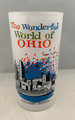 "1960s ""THE WONDERFUL WORLD OF OHIO"" CINCINNATI SKYLINE GLASS PROMOTIONAL CAMPAIGN FOR OHIO"