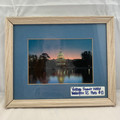 VINTAGE FRAMED AND MATTED U.S. CAPITOL BUILDING IN WASHINGTON DC PHOTOGRAPH