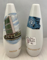 RARE! VINTAGE UNITED NATIONS N.Y. SALT AND PEPPER SHAKERS PORCELAIN SOUVENIR MADE BY OMC OF JAPAN APPEAR UNUSED