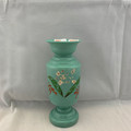 RARE! ANTIQUE VICTORIAN ERA (LATE 1800S - EARLY 1900S) HAND-PAINTED BRISTOL GLASS VASE