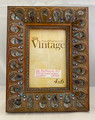 "NEW! ""PHILIP WHITNEY LTD. VINTAGE"" 4x6 OPENING PEACOCK ENAMEL JEWEL FRAME"