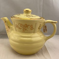 1920S-1930s ENTERPRISE YELLOW AND GOLD CERAMIC TEAPOT DRIP-O-LATOR