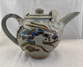 NEW! HAND-THROWN GRAY RABBIT POTTERY TEAPOT
