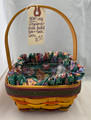 NEW! 1998 EASTER LONGABERGER BASKET WITH CLOTH AND PLASTIC LINERS