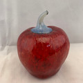 VINTAGE BLOWN GLASS RED APPLE HOLLOW PAPERWEIGHT DECORATION