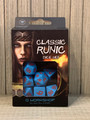 NEW IN BOX ©2019 Q WORKSHOP CLASSIC RUNIC BLUE AND RED DICE SET OF 7