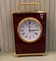 CONTEMPORARY TRADITIONAL ROSEWOOD AND BRASS HOWARD MILLER MANTLE TABLETOP CLOCK