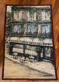 VINTAGE KATE MILLER MCRASKE CAFE DU THEATRE WALL TAPESTRY MADE IN AMERICA