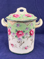 VINTAGE VICTORIAN PORCELAIN CONDENSED MILK CONTAINER WITH LID