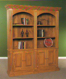 Double Bookcase with Cupboard BC211
