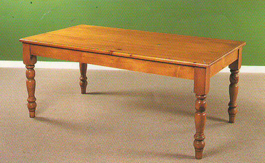 Farmhouse leg table made out of solid pine wood