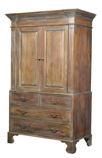 Reclaimed Southern Yellow Pine  Limed antique pine finish Antiqued brass handles Price as shown:  $3,200