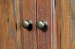 Detail of Linen press finish and handles
