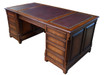 Maple Pedestal Desk withe gilded leather top.