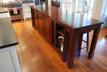 2nd Kitchen island with sliding wood doors