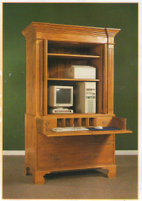 LP101S Linen Press with Secretaire
