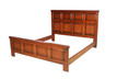 King size panel bed in Mahogany. Also available in other wood species and finishes.