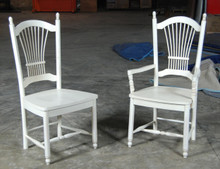 #820 Wheatback Side Chair #821 Wheatback Arm Chair
