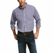 Ariat Men's Purple Mini Plaid Long Sleeve Western Shirt - 10028071