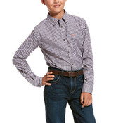 Ariat Kids' Pro Series Umber Stretch Classic Fit Shirt - 10028149