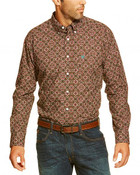 Ariat Men's Dante Flower Print Button Long Sleeve Shirt  - 10016895