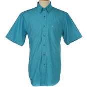 Ariat Mens Jacob Turquoise Plaid Western Shirt - 10017145