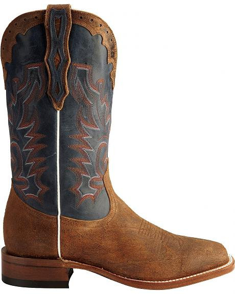 113459ab9bb BOULET STOCKMAN BLUE SHAFT COWBOY BOOTS - 2077