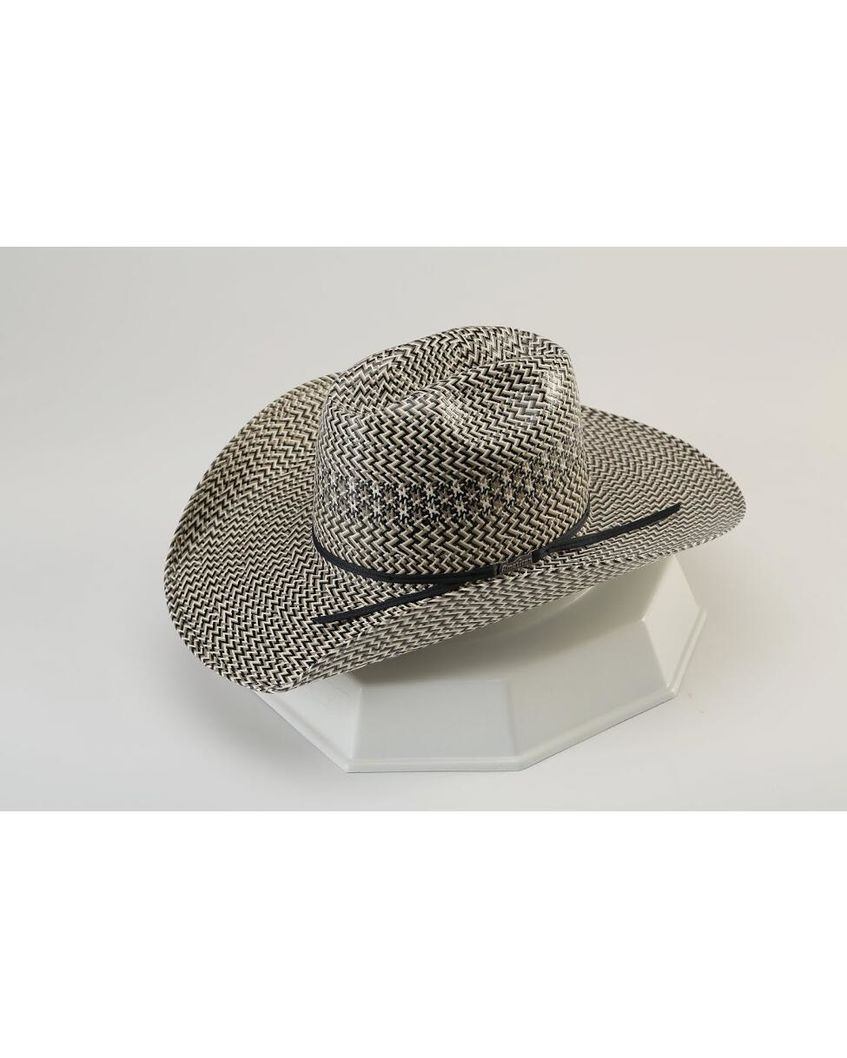 aa03f29aec3 American Straw 5535 Fancy Vent Tri Colored Cowboy Hat - Black Grey Ivory -  5535S. Your Price   114.99 (You save  5.00). Image 1