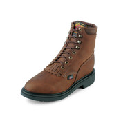 JUSTIN MEN'S AGED BARK LACE UP WORK BOOTS - 768