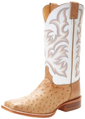 545ad081599 Justin Men's AQHA Full Quill Ostrich Cowboy Boots - Square Toe - 8572