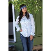 Cruel Girl White Print Ladies Shirt   - ctw9352002
