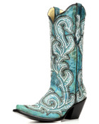 CORRAL TURQUOISE EMBROIDERY BOOT