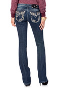 Miss Me Abstract Sequined Filigree Boot Cut Jeans - JP8191B