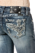 MISS ME Heaven Sent Slim Boot Cut Jeans - JP8501SB