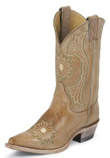 Justin Women's Camel Deertanned Cow Boot  - L2851