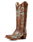 Circle G by Corral Cowhide Snip Toe Boot with Embroidery - L5193