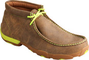Men's Twisted X Bomber & Neon Yellow Driving Mocs - MDM0026