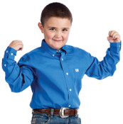 Cinch L/S Boy's Solid Fine Weave Shir - MTW7060083