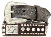 NOCONA WESTERN BELT GIRLS KIDS HAIR RHINESTONES - N4419401