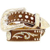 NOCONA WESTERN BELT GIRLS KIDS RHINESTONES WARM EARTH - N4423402