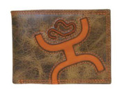 Hooey Signature Bifold Wallet - Brown/Orange - 1564161W6