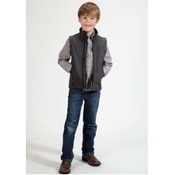 Kids' Roper Grey Softshell Fleece Vest - 0339707820721